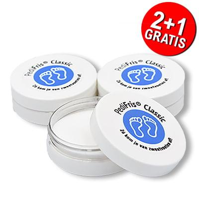 PediFris voetpoeder tegen zweetvoeten 2+1 gratis