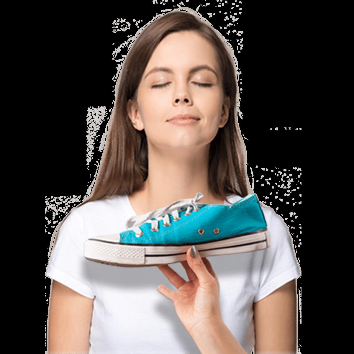 Schoen stinkt niet meer maar ruikt lekker